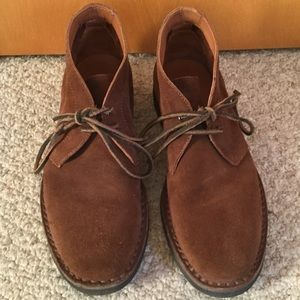 Frye Arden Chukka Ankle Boots, Sz 10, brown suede.